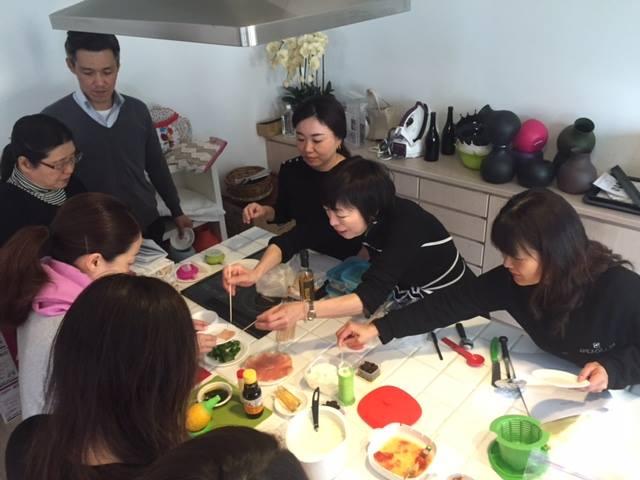 新しい調理器具を使った実習会