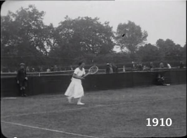 1910年当時のテニス風景
